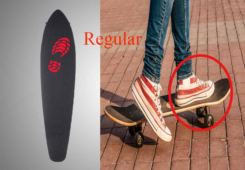 Find Out If You Are Regular Or Goofy Stance Learn To Stand On A Skateboard Skates Radar